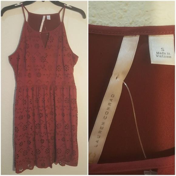 Lauren Ralph Lauren Dresses & Skirts - Lauren Conrad dress maroon floral cutouts